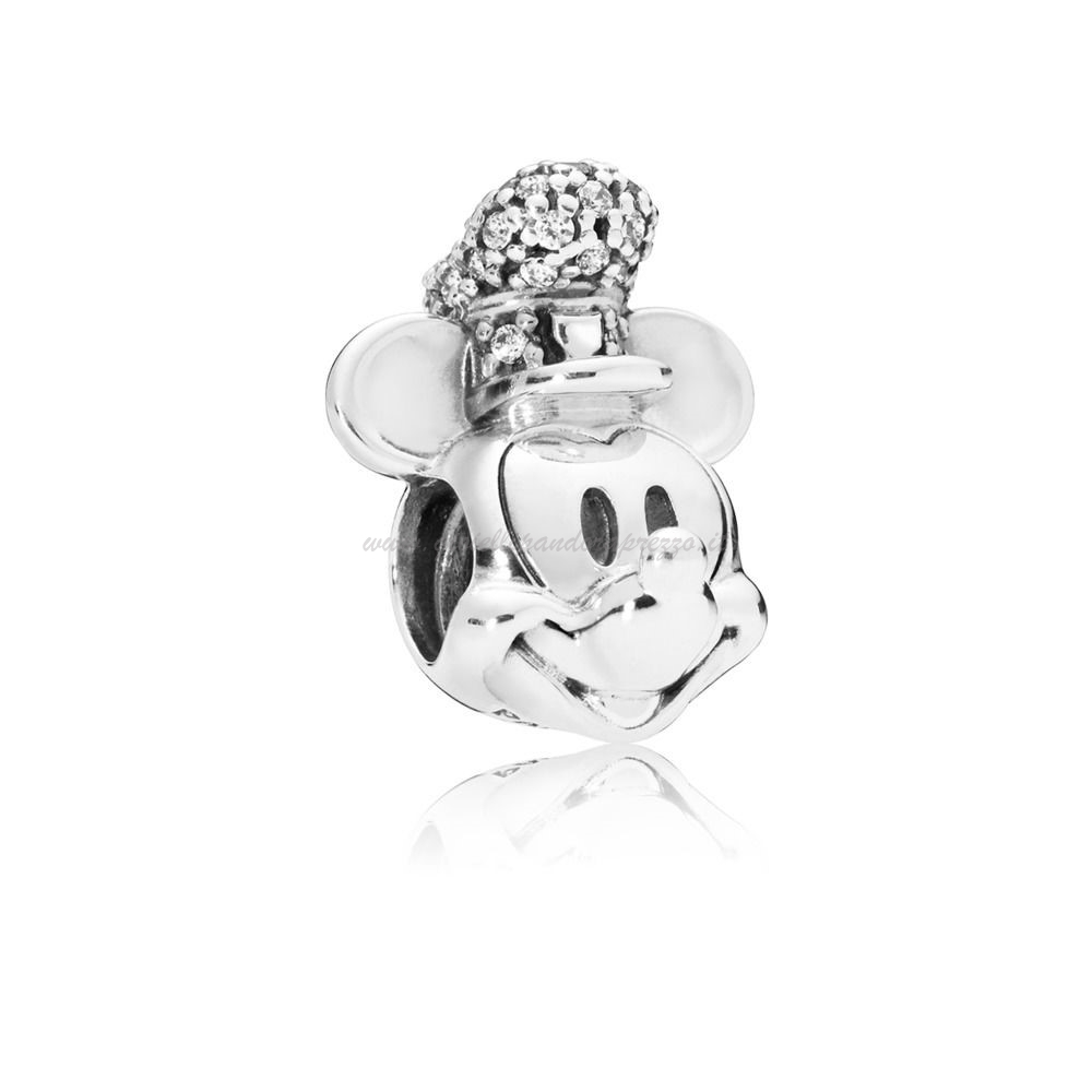 Pandora Gioielli Charm Disney, Portrait De Mickey Version Steamboat Willie Scintillant poco prezzo