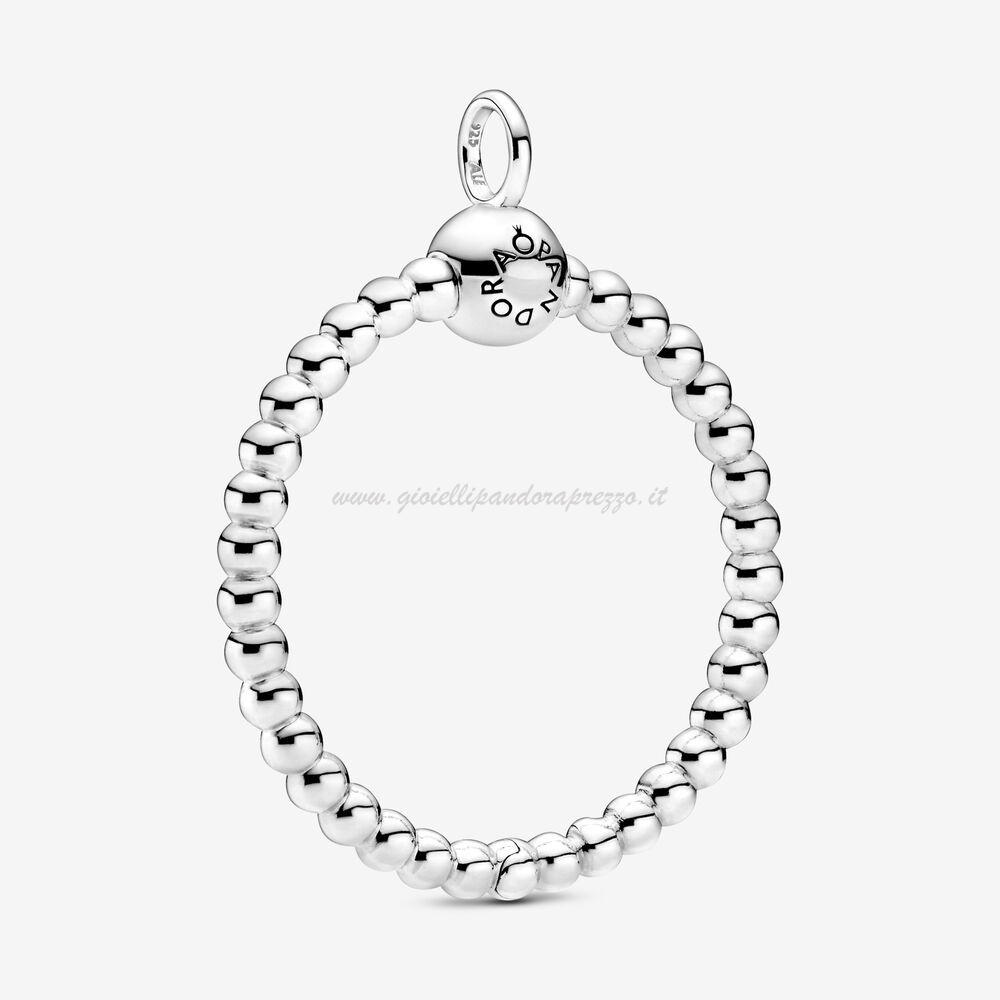 Pandora Gioielli Pandora Moments Medium Beaded O Pendant poco prezzo