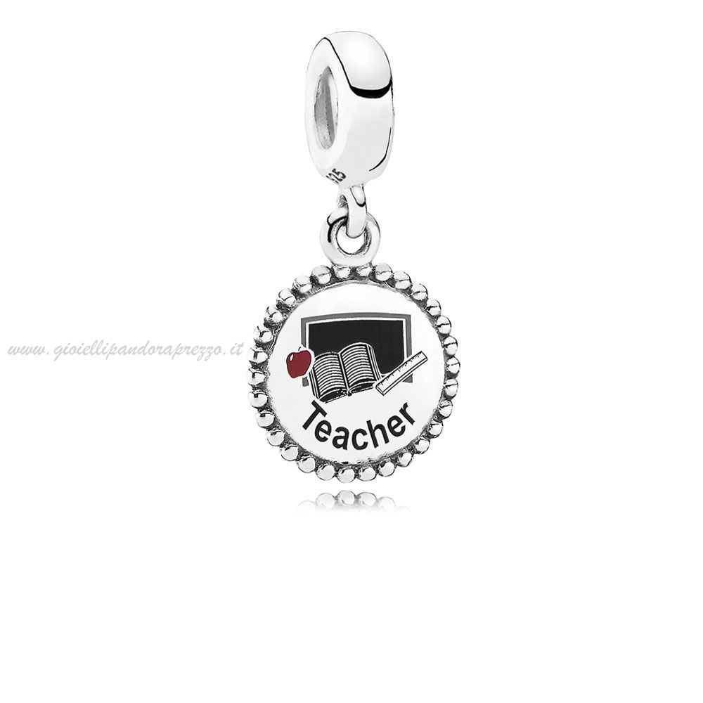 Pandora Gioielli Teacher Dangle Charm Mixed Enamel poco prezzo
